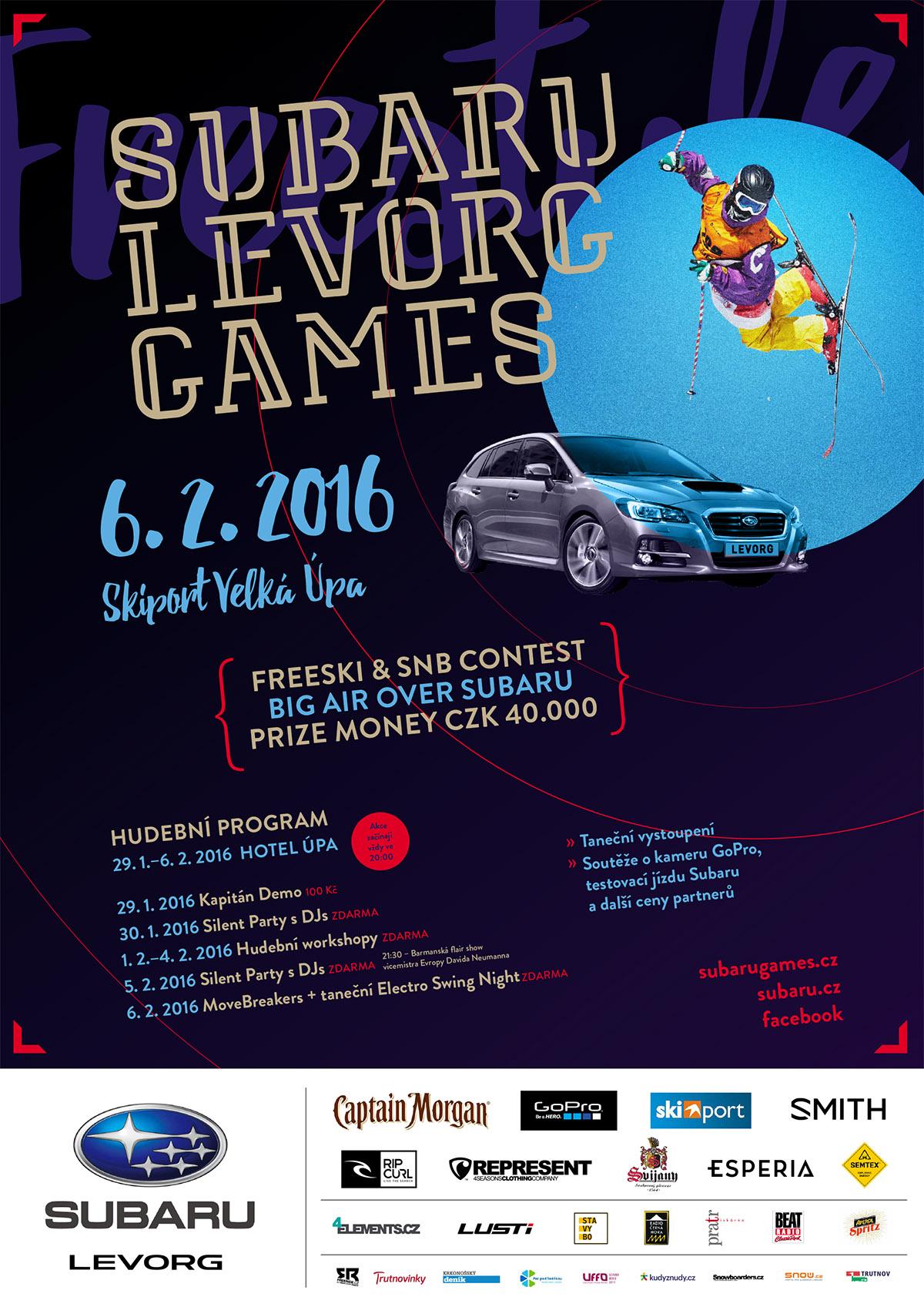 SUBARU LEVORG GAMES